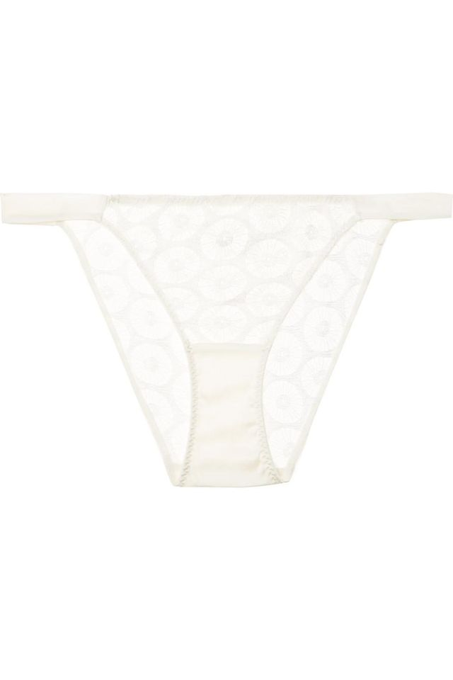 Carnaby Street Stretch-leavers Lace And Satin Briefs