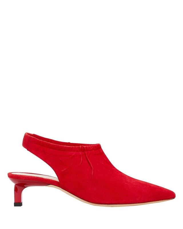 Rejina Pyo Alissa Suede Red Pumps Red 37
