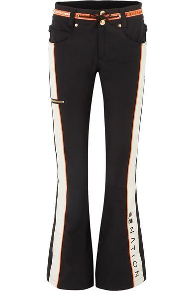 P.E Nation + DC Viva striped flared ski pants