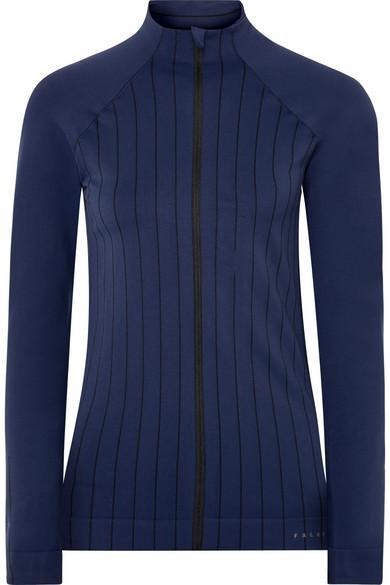 Falke Ergonomic Sport System Act 1 paneled striped stretch-knit jacket