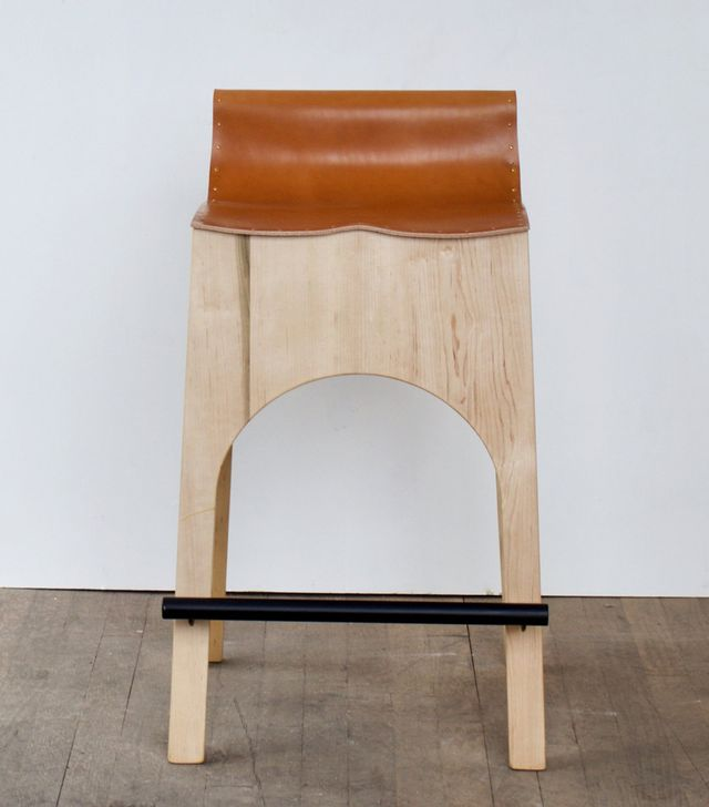 Lostine Jack Leather and Wood Stool