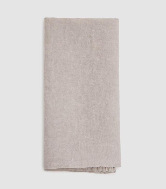 Simple Linen Napkin in Light Grey