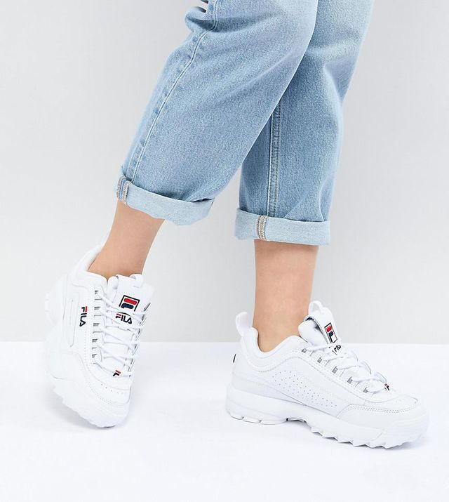 Premium Disruptor Sneakers In White
