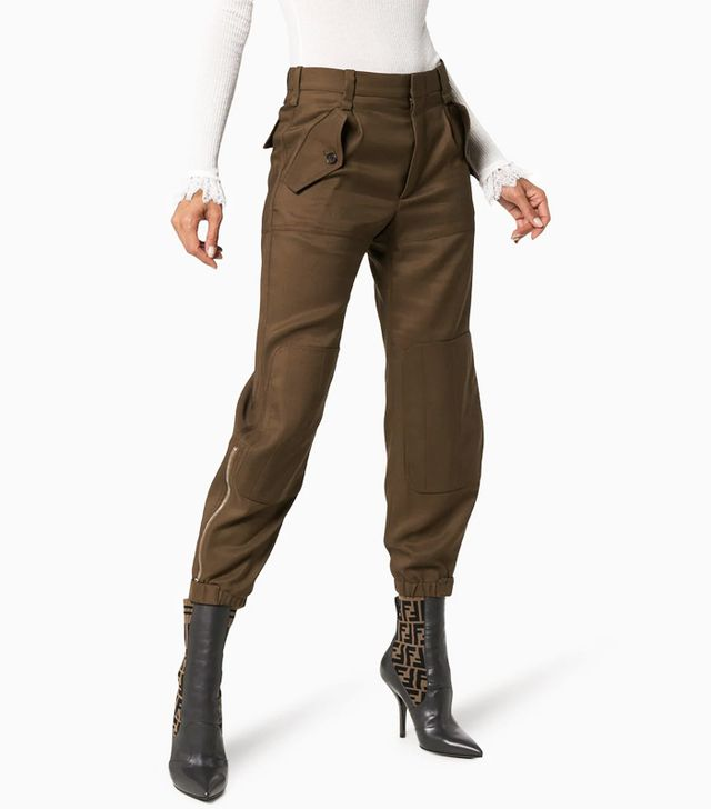 Chloé Cargo Trousers With Tapered Hem
