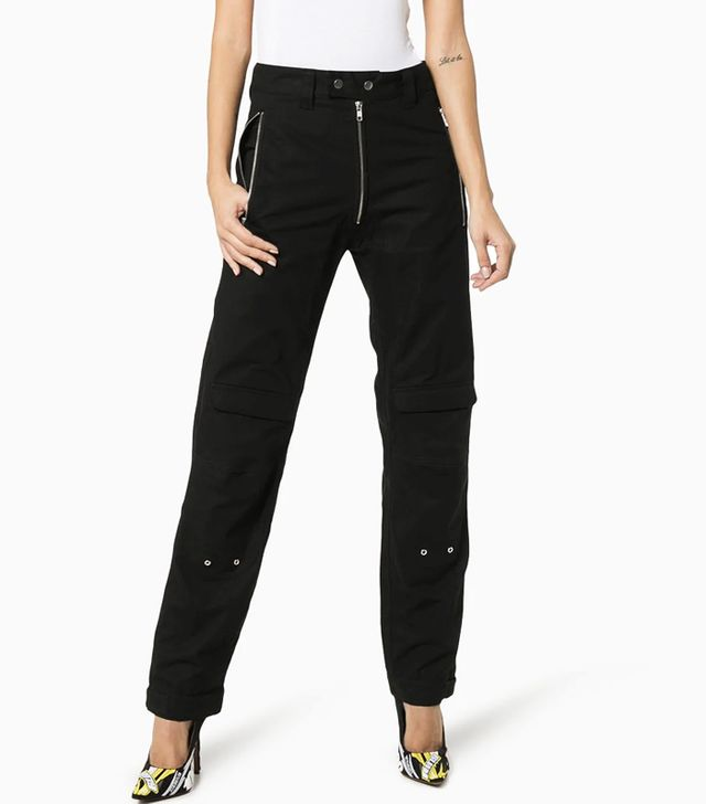 GmbH High-Waisted Cargo Trousers