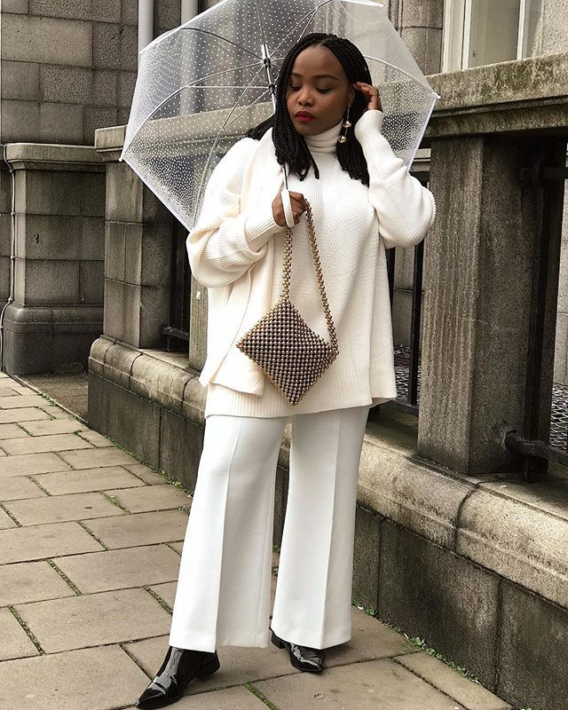 all-white winter coffee-date outfits