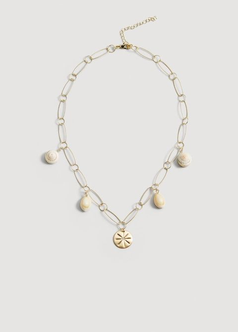 affordable trendy necklaces with shells and beads