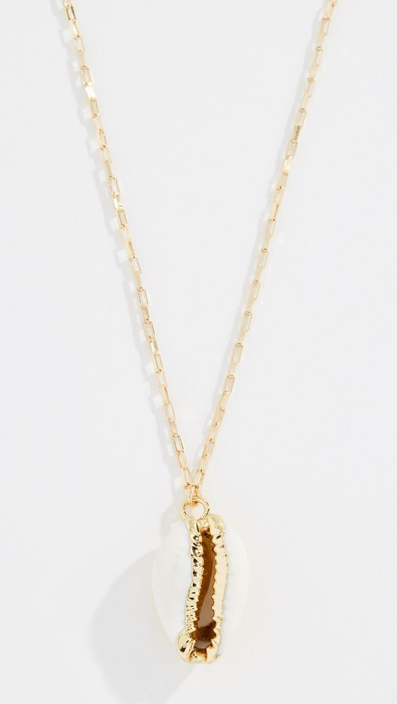 affordable trendy necklaces with gold shells