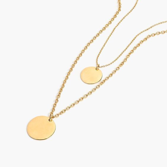 affordable trendy Layered coin necklaces