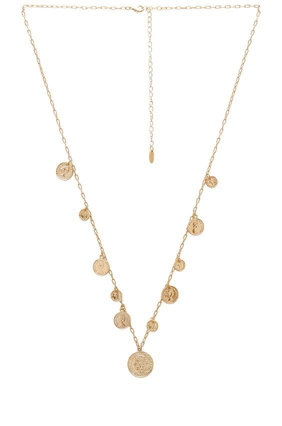 affordable trendy necklaces with multiple coins