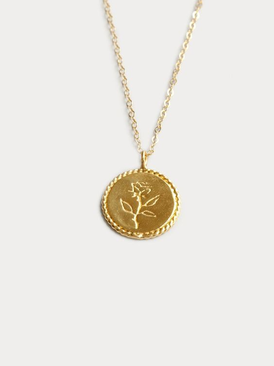 affordable trendy engraved necklaces