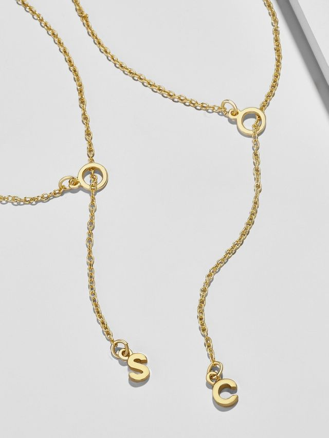 Y-chain initial necklaces under $200
