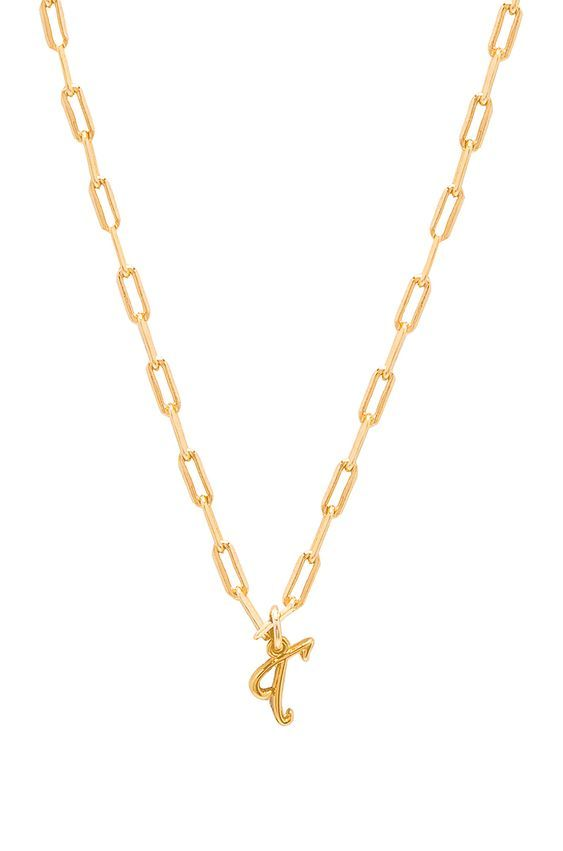chain-link initial necklaces under $200