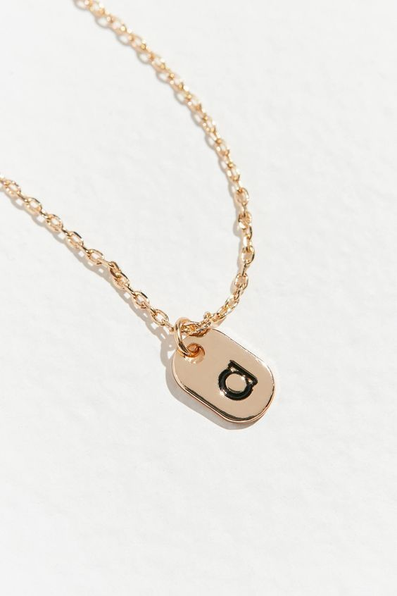tag initial necklaces under $200