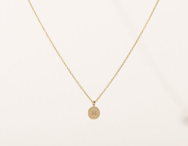 initial necklaces under $200 with a 16-inch chain