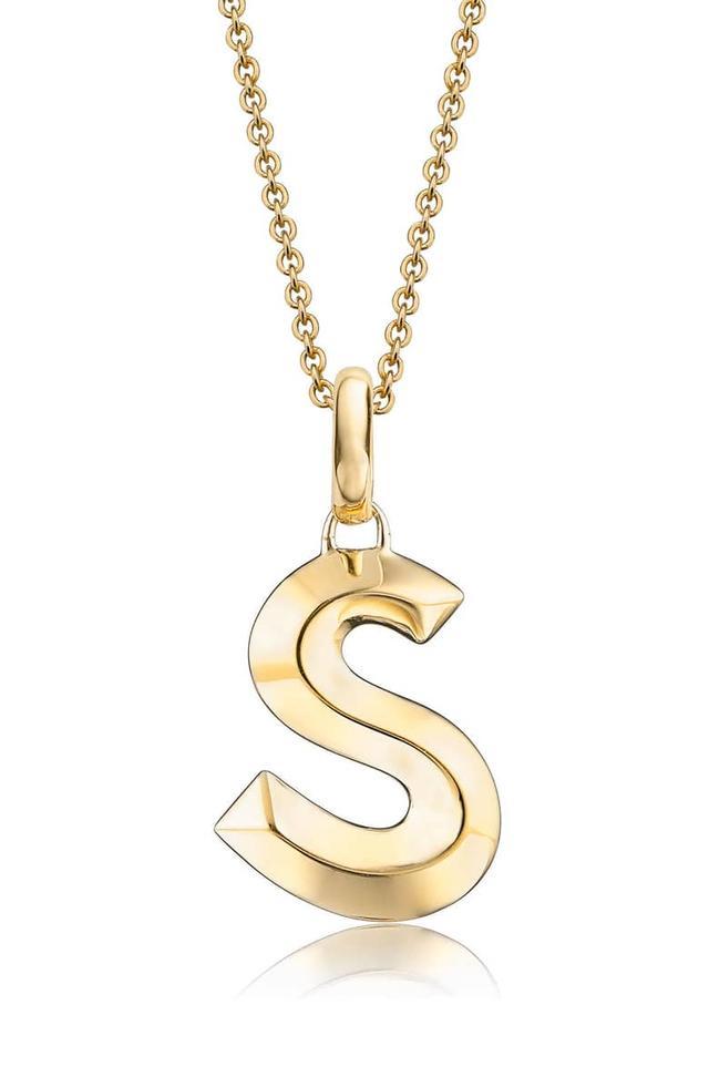 block-letter initial necklaces under $200