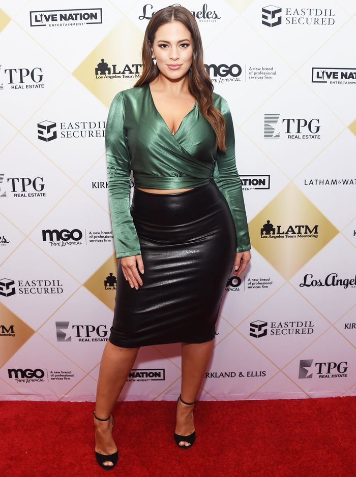 a318f91b7b Pinterest. Photo: Getty Images. On Ashley Graham: Commando Faux Leather  Midi Skirt ...