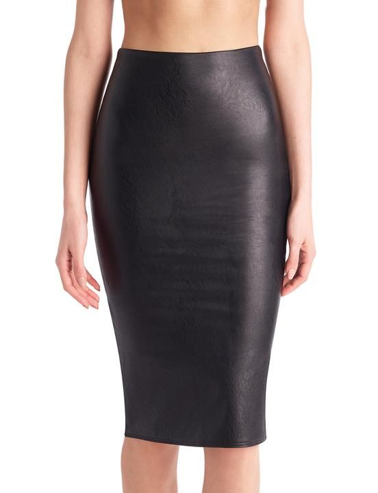 c2b53d2f29 On Ashley Graham: Commando Faux Leather Midi Skirt ($98). Pinterest