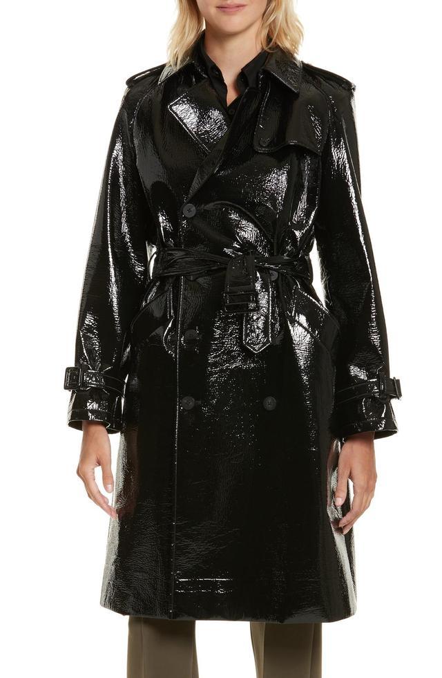 Women's Diane Von Furstenberg Patent Trench Coat