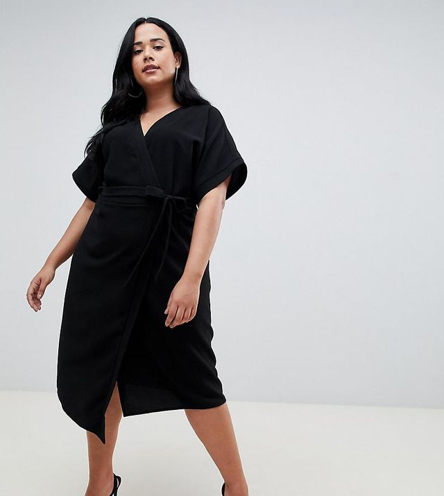ASOS DESIGN Curve wrap midi dress