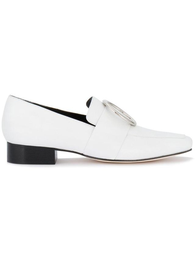 White Leather Harput loafers