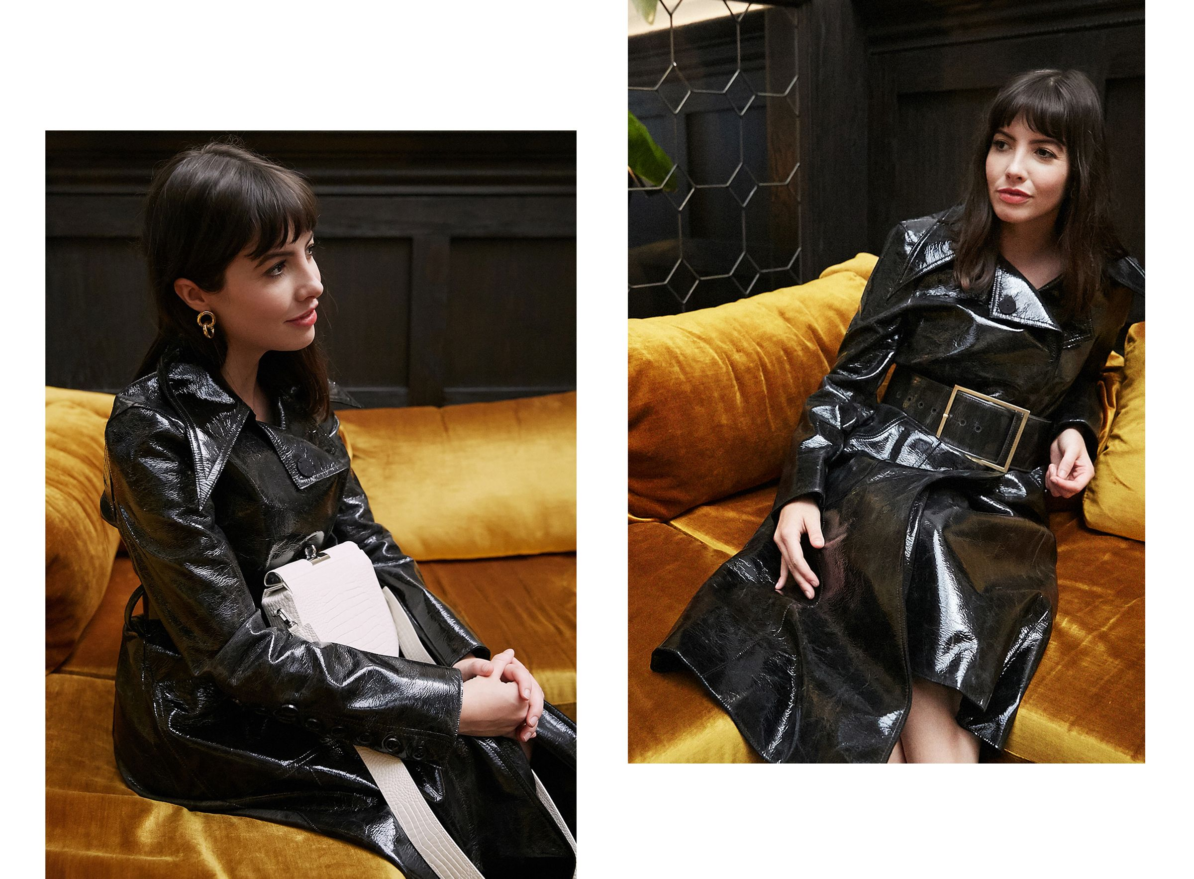 Net-a-Porter Vanguard - RŪH patent trench coat