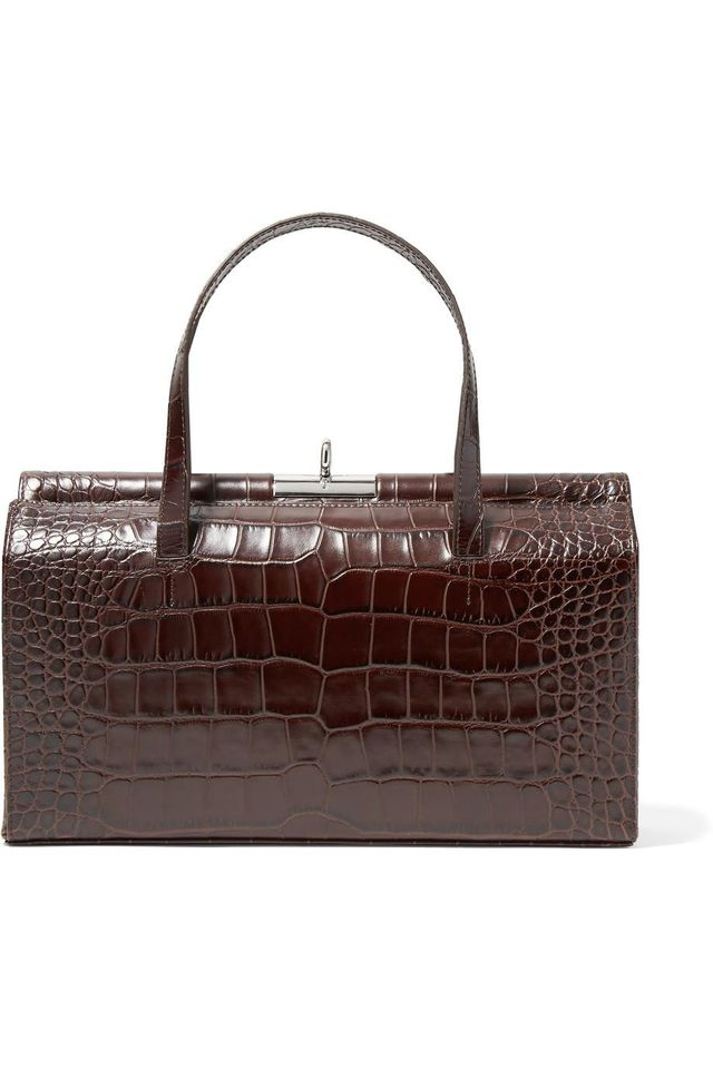 Margot Croc-effect Leather Tote