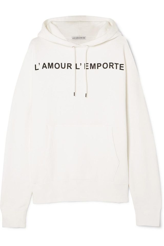 Oversized Printed Cotton-blend Jersey Hoodie