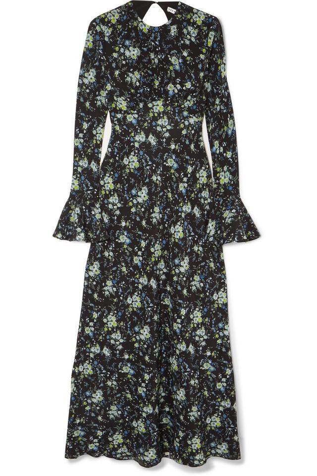 Floral-print Silk-chiffon Midi Dress