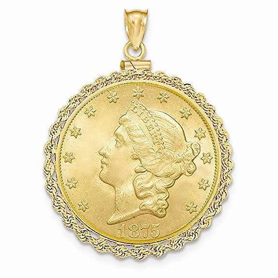 Bezel Necklace Pendant Charm Coin