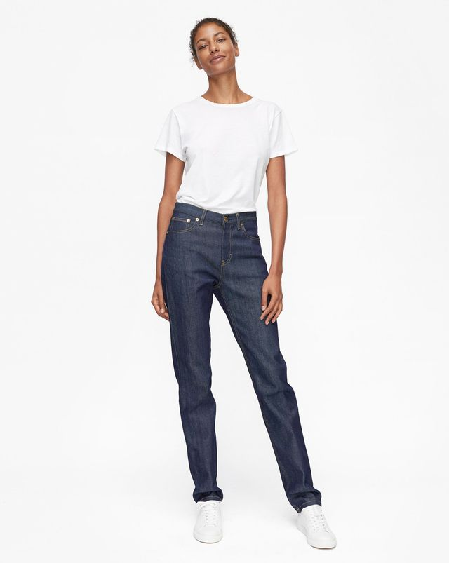 Filippa K Taylor Raw Jeans in Dark Blue