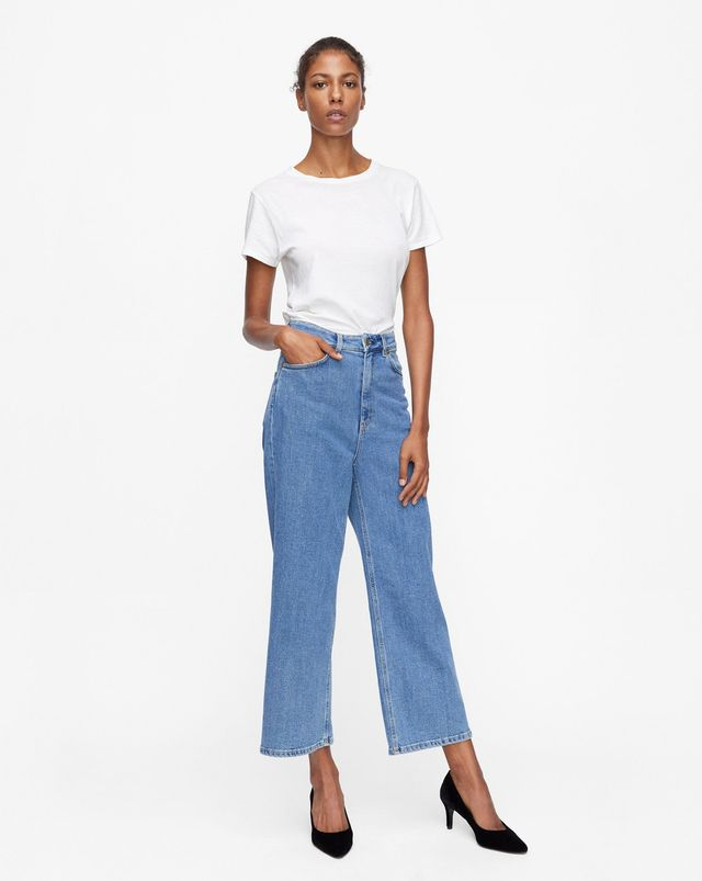 Filippa K Laurie Washed Jeans in Mid Blue