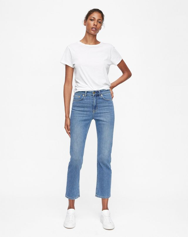 Filippa K Stella Washed Jeans in Mid Blue