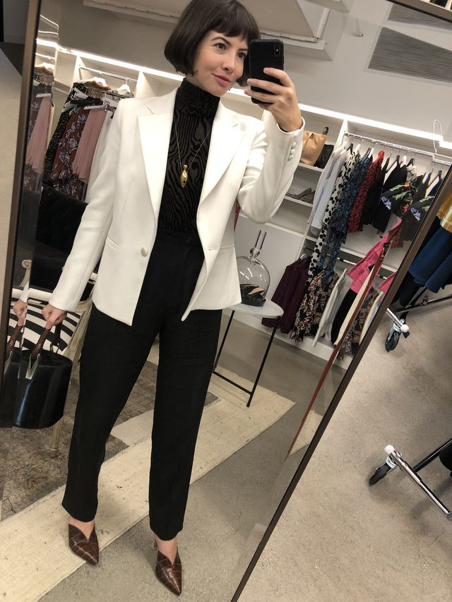 Office Outfits - Blazer + Turtleneck + Trousers