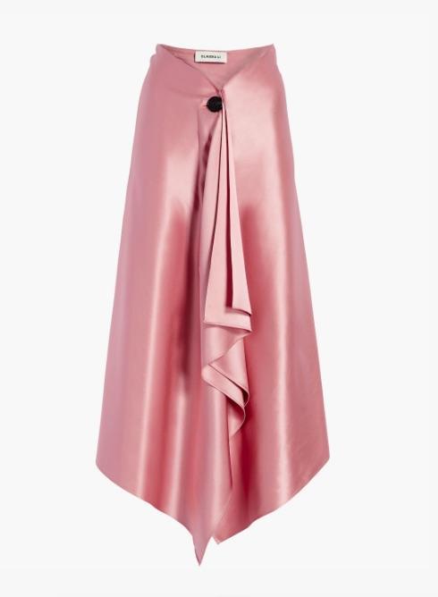 Claudia Li Silk A-Line Blanket Skirt
