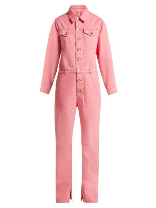 - Denim Jumpsuit - Womens - Pink
