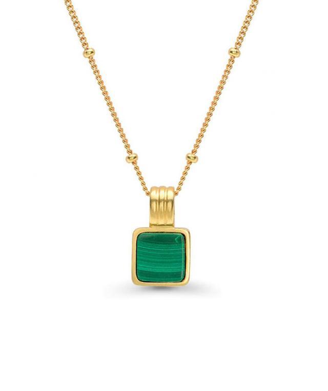 Lucy Williams x Missoma Square Malachite Necklace