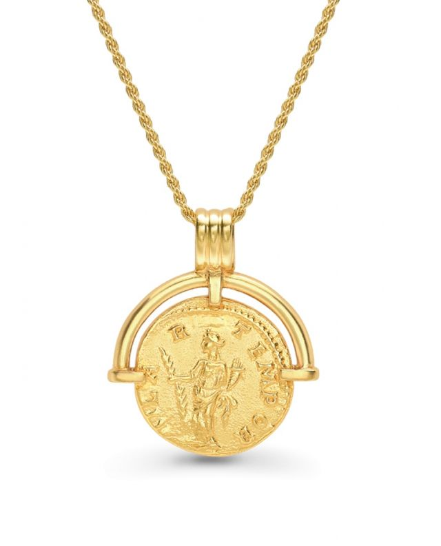 Lucy Williams x Missoma Roman Arc Coin Necklace