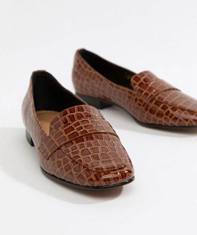 Milestone loafer flat shoes in croc