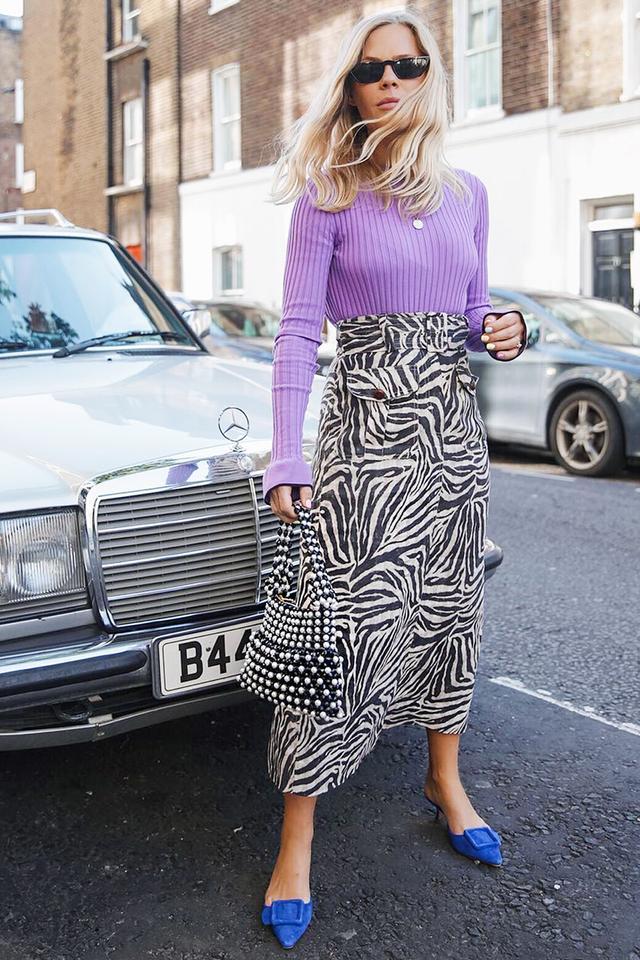 Jessie Bush style: Jessie wearing Emilio Pucci top and Zimmerman skirt