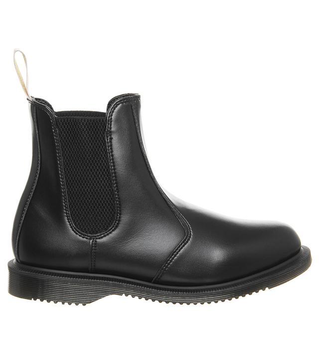Dr. Martens Vegan Flora Chelsea Boots Black Felix Rub Off