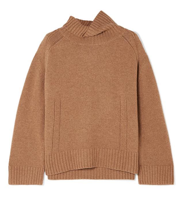 By Malene Birger Aleya Oversized Wool-Blend Turtleneck Sweater