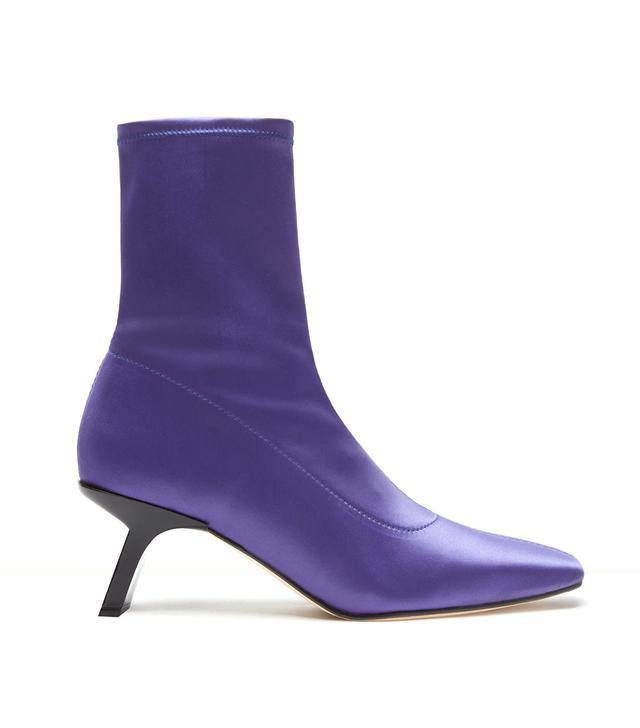 Miista Genevieve Grape Satin Boots (