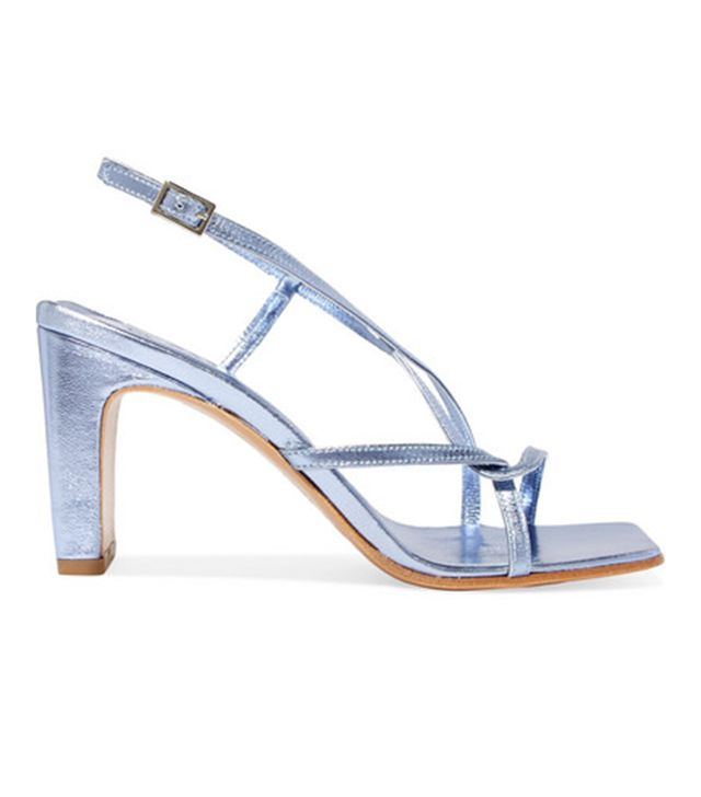 Carrie Metallic Leather Slingback Sandals