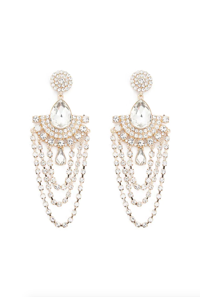 Forever 21 Gleaming Statement Drop Earrings