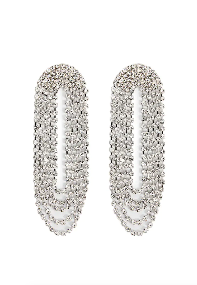Forever 21 Layered Rhinestone Drop Earrings