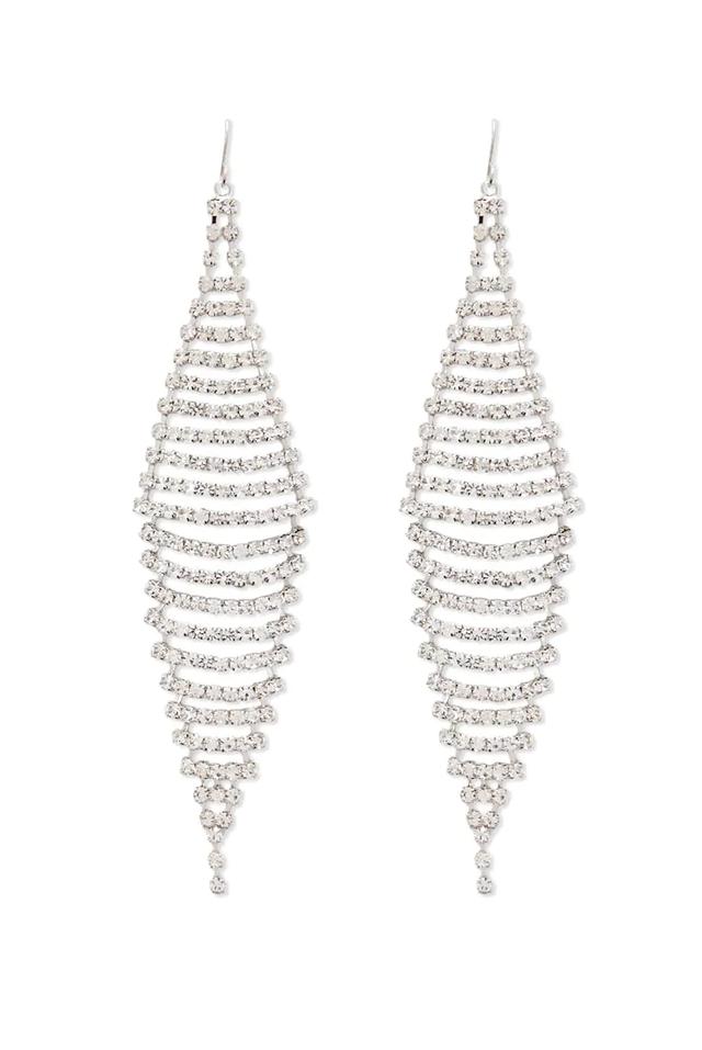 Forever 21 Rhinestone Drop Earrings