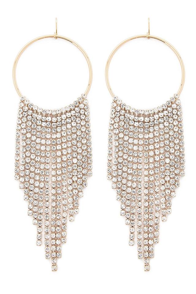 Forever 21 Dangling Rhinestone Drop Earrings