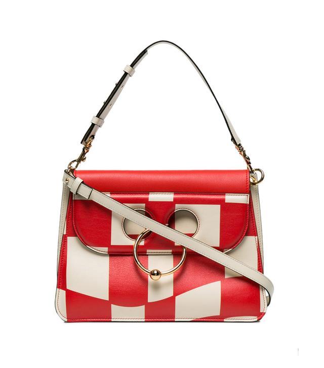 Red checkerboard Pierce Medium Shoulder bag