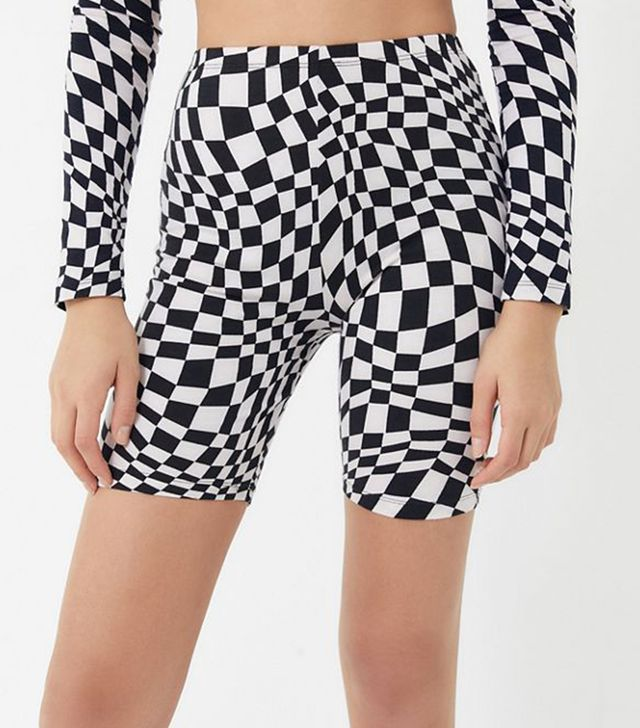 Checkerboard Bike Short